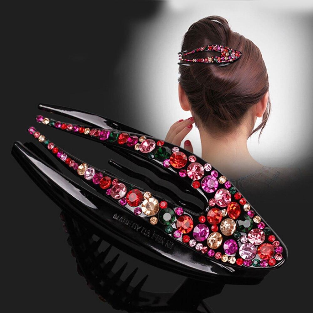 1 Pc Koreanische Kristall Haarnadel Für Frauen Hairclip Top Seite Clip Strass Entenschnabel Clip Haar Schmuck Mädchen Haar Zubehör 4 Typ