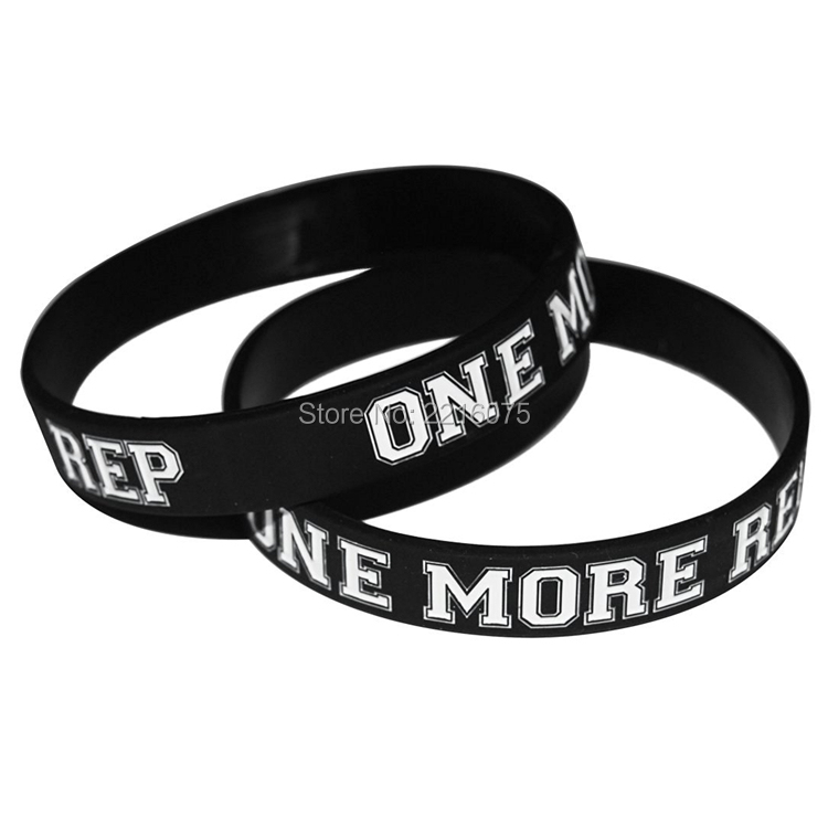 300pcs One More Rep Inspiration Training Workout Crossfit Silicone Wristband Rubber Bracelets Free Shipping By Dhl Express In Cuff From Jewelry