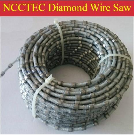 Scie à fil de diamant pour l'extraction de béton de granit de marbre de pierre (5 mètres par paquet) | installer dans des machines de scie à fil de carrière