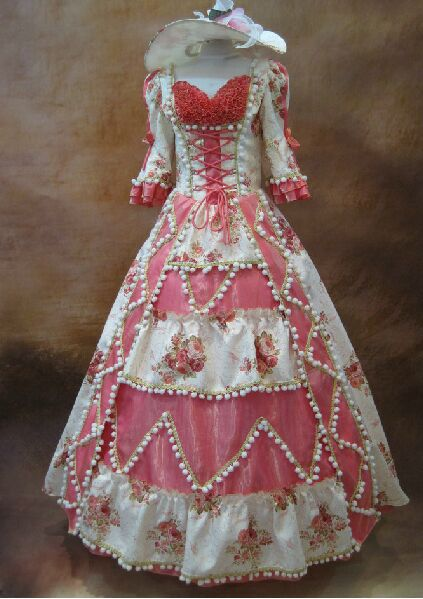 long flower Medieval Renaissance Gown princess Dress with hat ball gown Europe Royal/ medieval dress/victorian ball gown