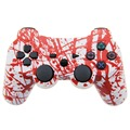 Wireless Controller SIXAXIS Double Vibration Joystick Gamepad Joypad For PS3 Playstation 3 (Blood)