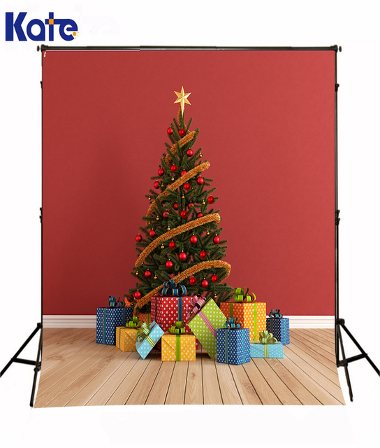 kate fabric sewing christmas present theme photography background computer printed custom children photography backdrops