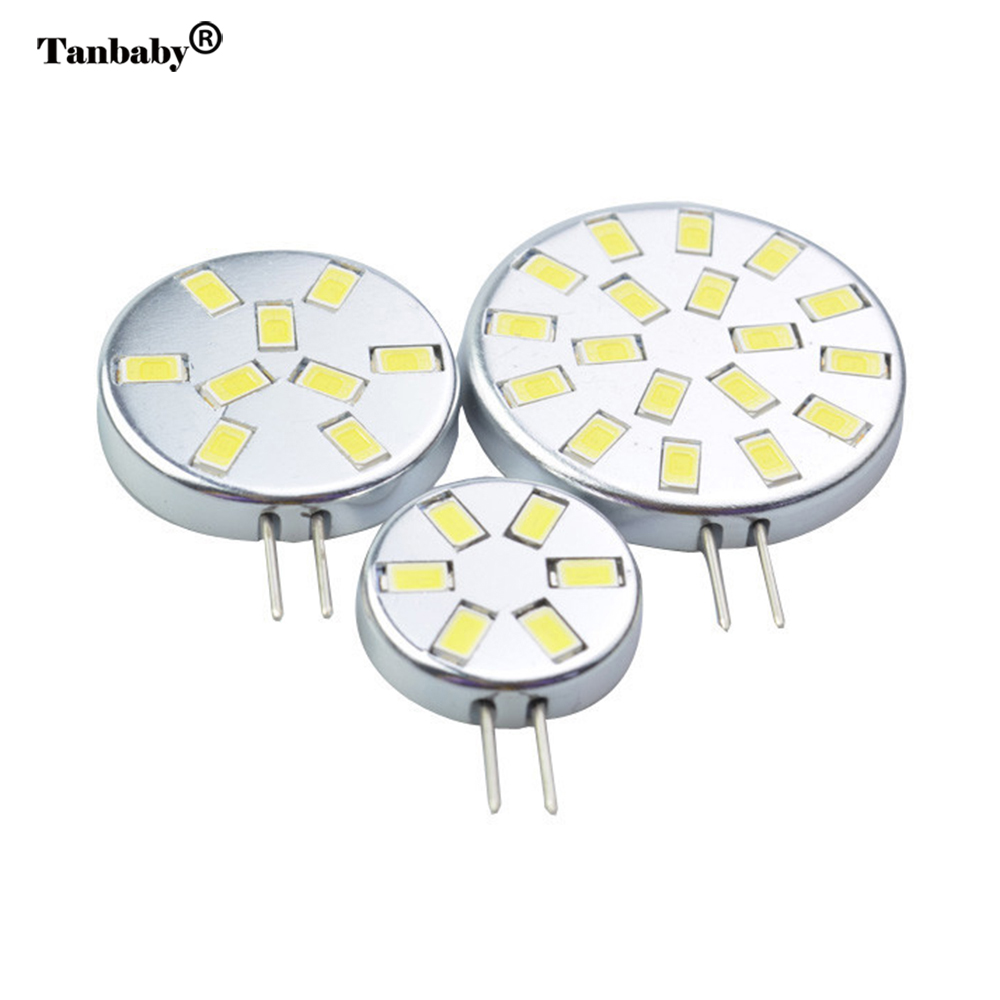Tanbaby G4 led light bulb 2W 3W 6W 5730 SMD lighting lamps DC12V white or warm white ulter brighter led house candle spotlight