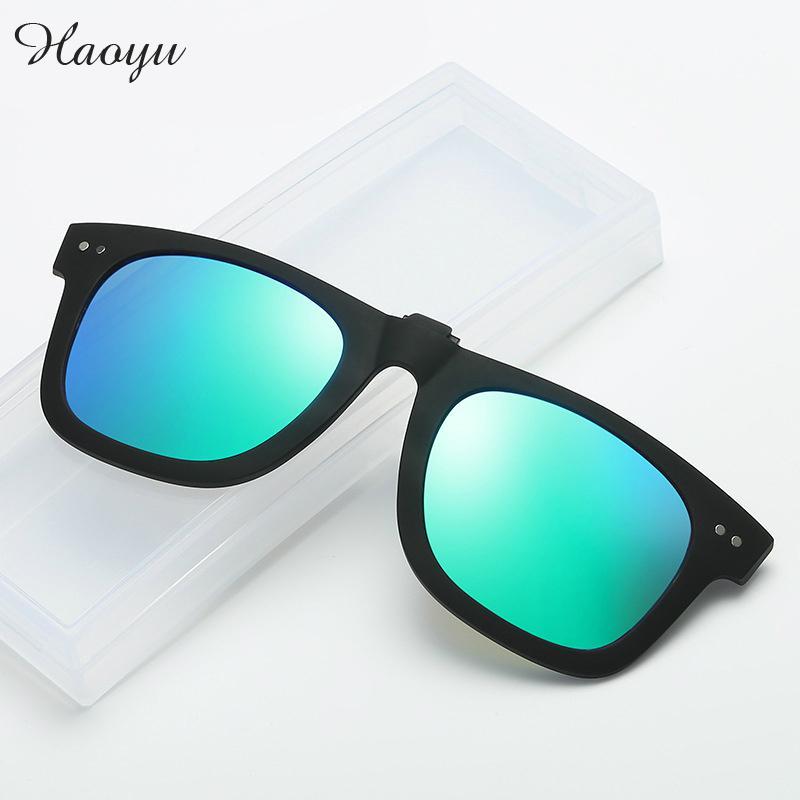 Haoyu Unisex Bunten Polarisierten Sonnenbrillen Clip ohne rahmen ...