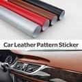 Украшение автомобиля Стикер 152*30 см Кожа Шаблон ПВХ Клей Виниловой Пленки Наклейки С Воздуха Бесплатный Bubble Черный Коричневый красный Серебристый