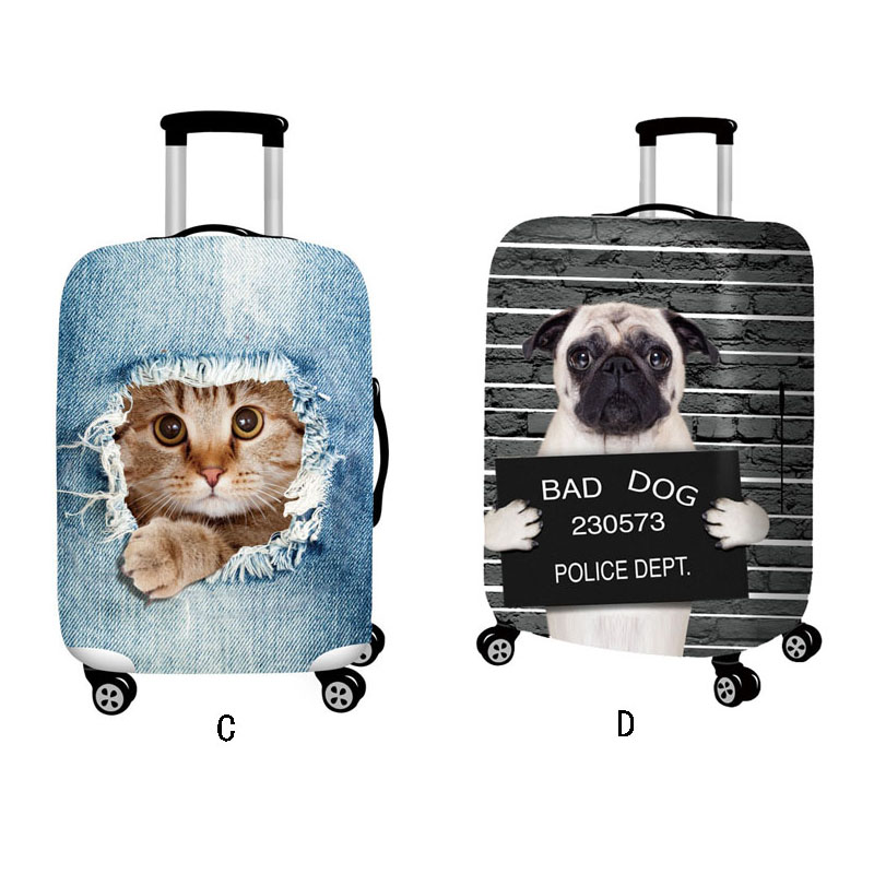 Sereqi Cute Animal 3d Pattern Travel Luggage Protection Cover, 18 32 Inch Suitcase Elastic Case Cover, Trolley Dust Cover Suitca