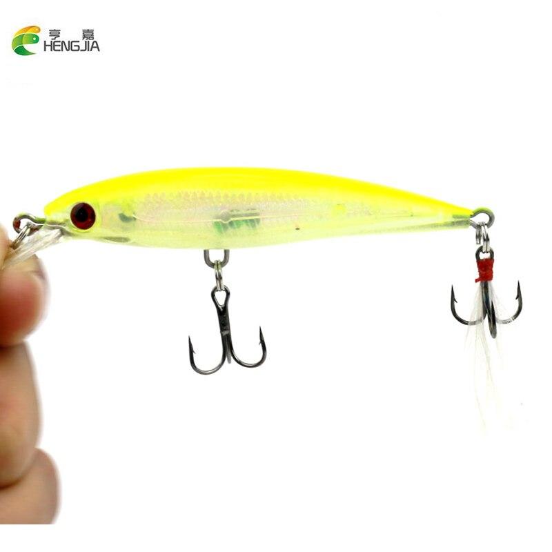 HENGJIA 10 pcs/lot Fishing Lure 0.5-1.5M Deep swim hard bait fish 9CM 8G artificial baits minnow fishing wobbler japan pesca
