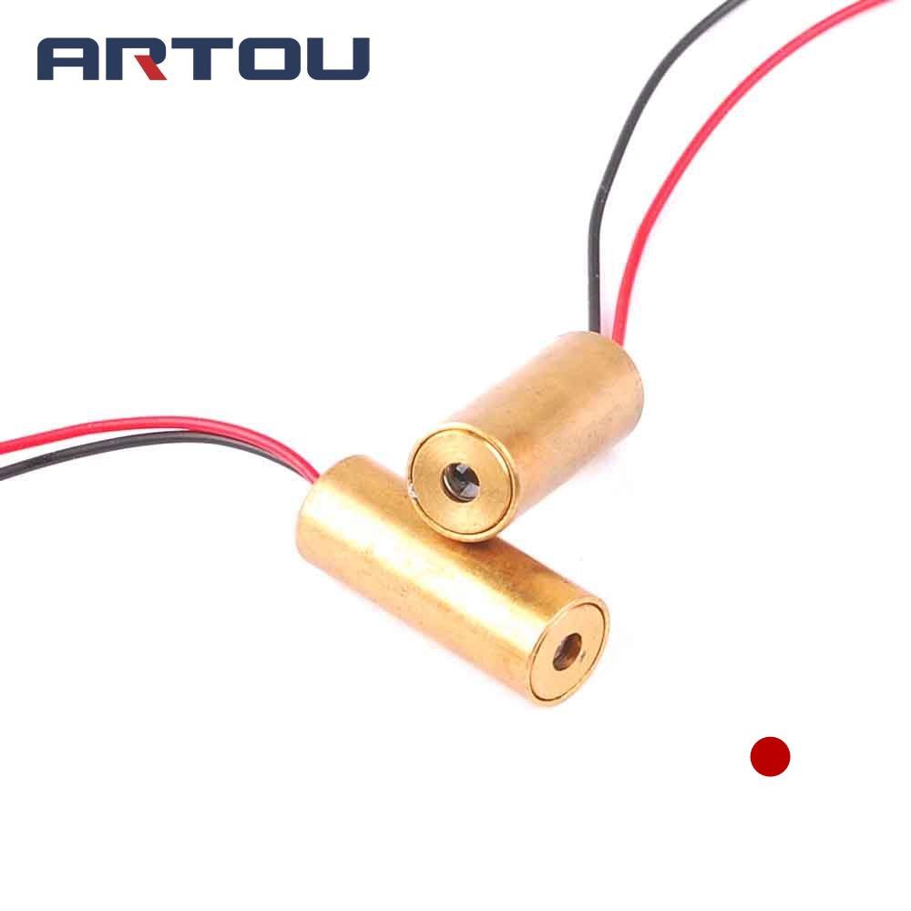 Two-pole Module Red Light 650nm 5mw Laser Head Laser Lamp Positioner Reasonable Dot-shaped Laser Tube Head