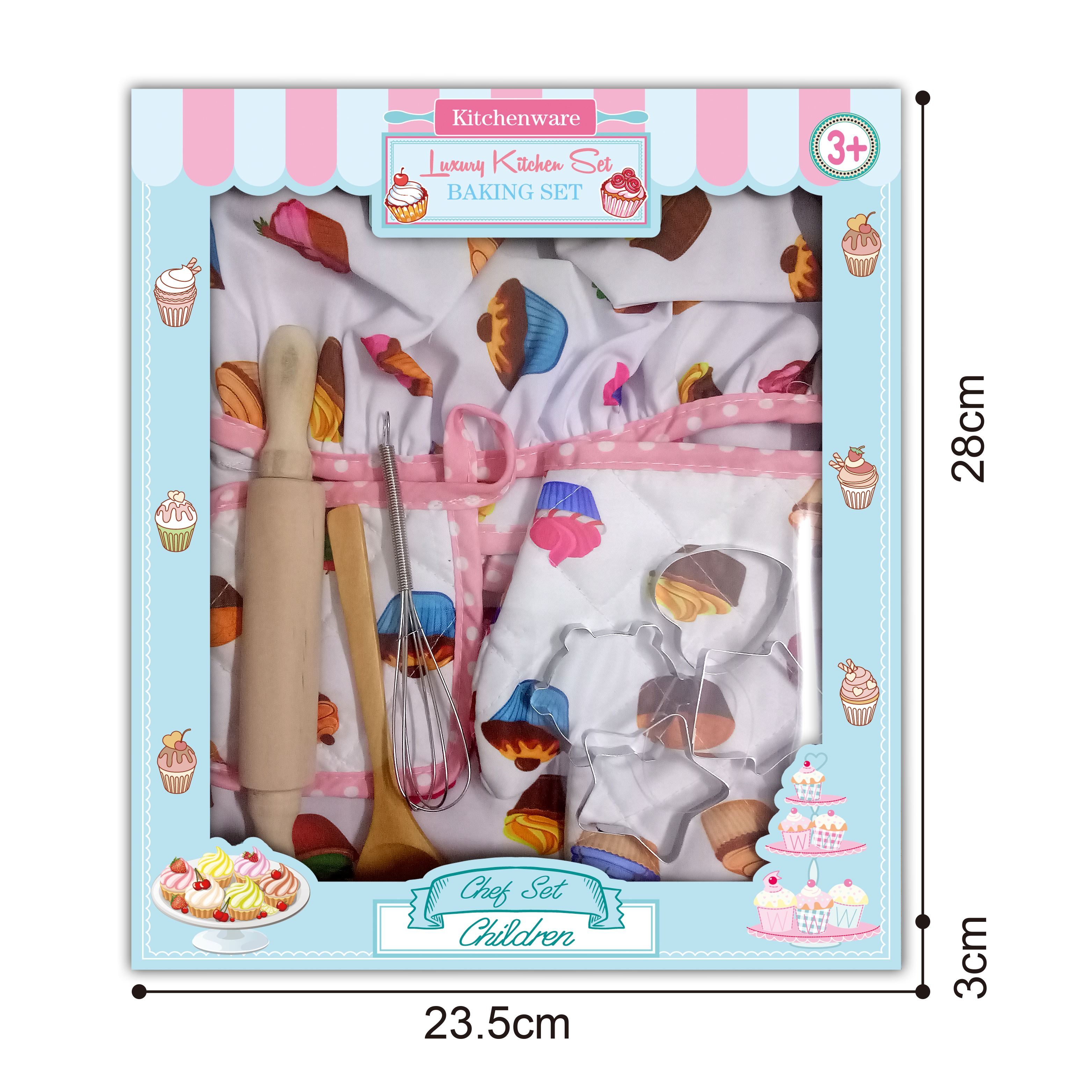 2019 Children Chef Set DIY Cooking Baking Suit Toys Set New Pretend Play Clothes Apron Gloves Hat Cooker Gift For Children Girl