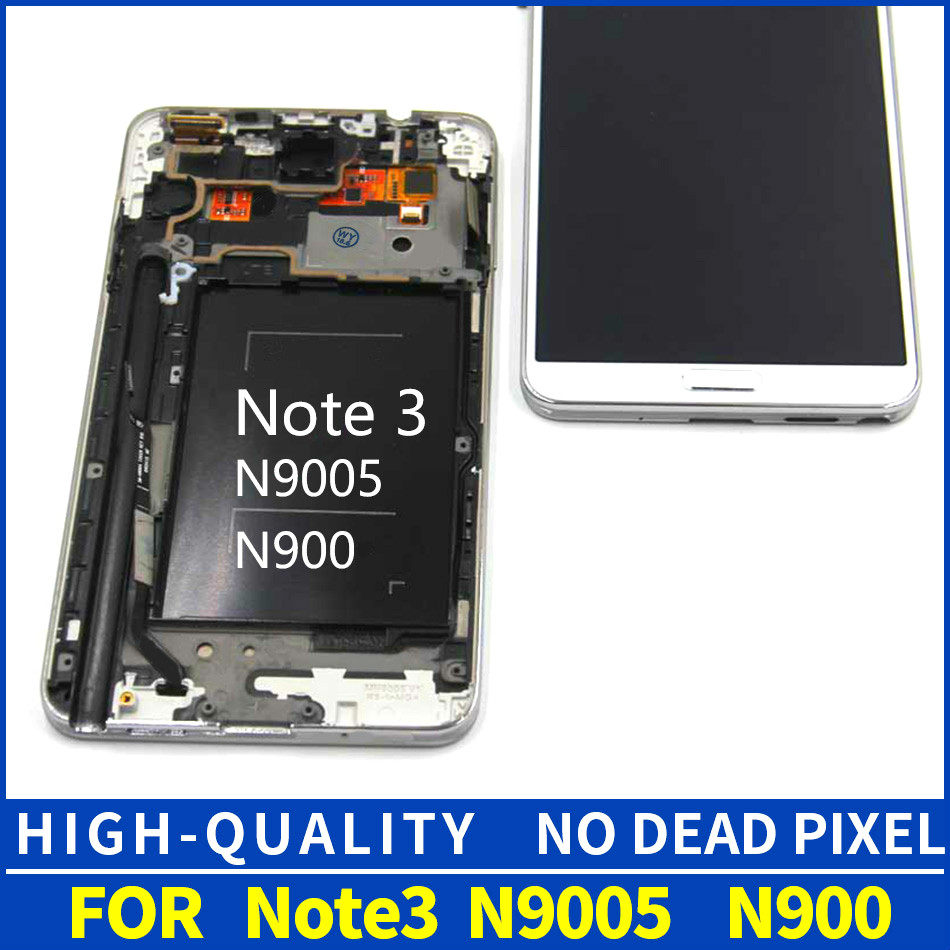 szHAIyu Tested LCD Display with Frame For Samsung Galaxy Note 3 N900 N9000q  N9005 N900T N900A Screen With Frame Tools