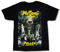 WU TANG CLAN POLLEN BLACK T SHIRT NEW OFFICIAL ADULT T Shirt Lettering Designs