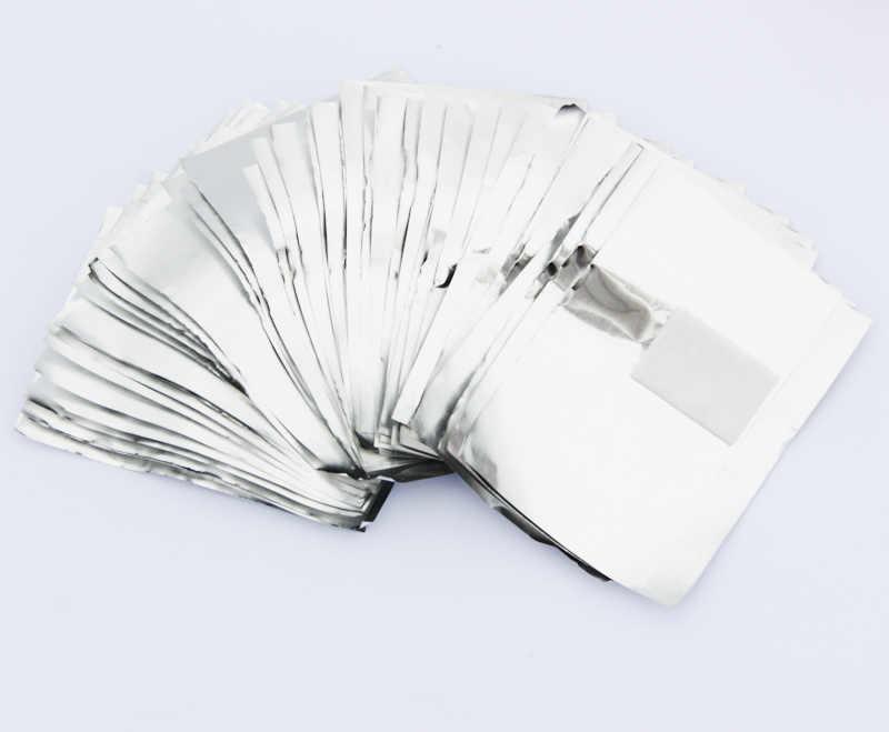 100 шт/партия алюминиевая фольга для ногтей впитывающийся акриловый гель для удаления обертывания Массажер для ногтей