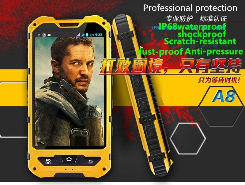 HTB14JSTOpXXXXafapXXq6xXFXXXo - Original A8 IP68 A9 V9 Waterproof Shockproof Rugged  Mobile Phone MTK6582 Quad Core WCDMA 1G RAM 8G  Android 4.4 3G OEM ODM NFC
