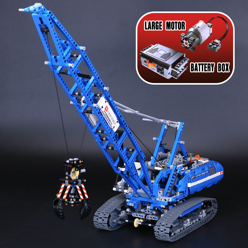 2017 Love.thank you 20010 1401Pcs Technic Series Crawler Crane Model Building Kits Blocks Bricks Children Toys Gift 42042 ювелирное изделие 20010