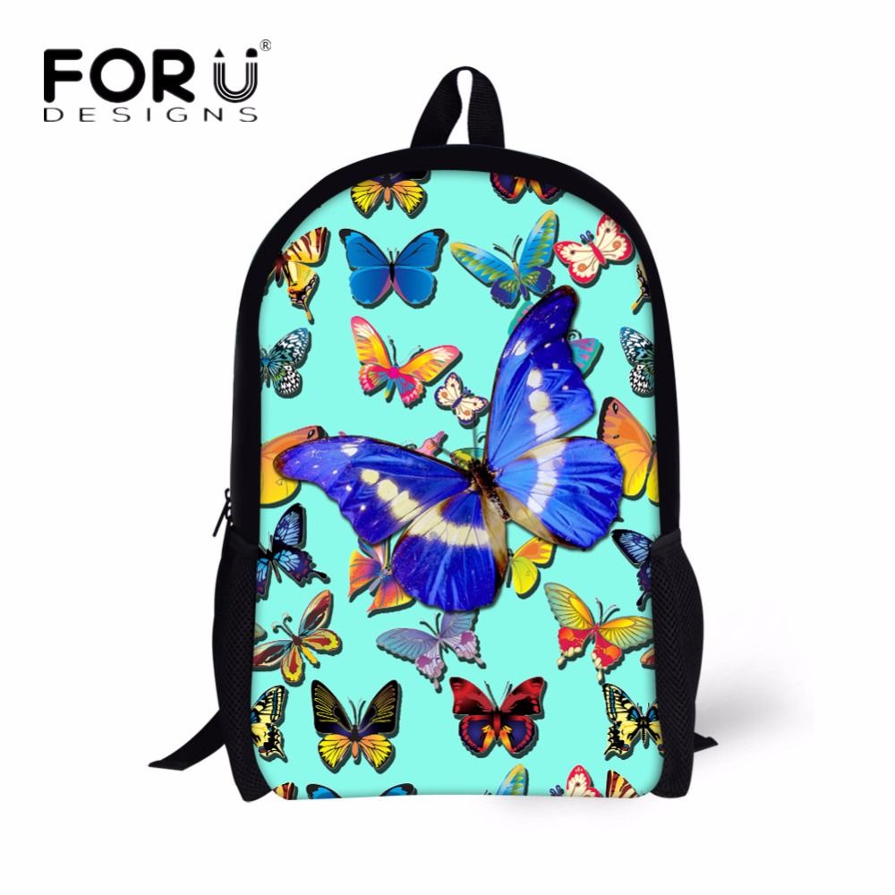 FORUDESIGNS Fashion Women Casual Backpacks 3D Animal Butterfly Printing School Backpack for Children Student Schoolbags Mochila glacialtech gt9225 edlb1