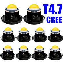 10pcs T4.7 LED Super Bright CREE Chips SMD LED Car Board Instrument Panel Lamp Auto Dashboard Warming Indicator Wedge Light 10X(China)