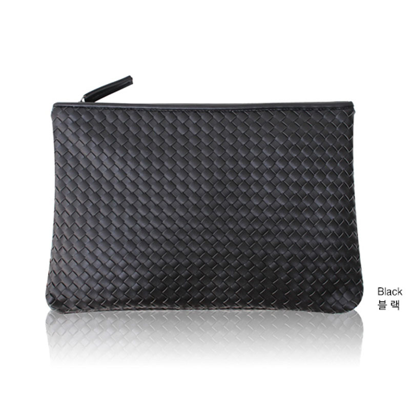 Kpop Fashion Knitting Women s Clutch Bag PU Leather Women Envelope Bags  Clutch Evening Bag Clutches Handbags Black Free Shipping-in Clutches from  Luggage ... 0ca24c574f428