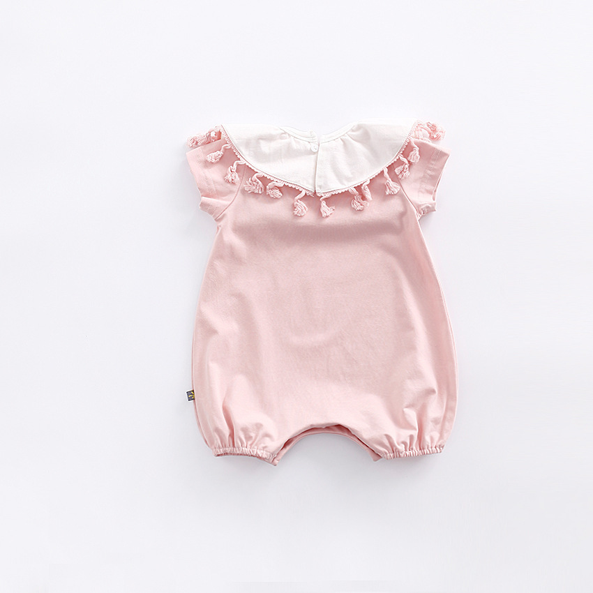 79d750c62 Peninsula Baby girls romper wholesale 2017 summer lady decorative collar  short sleeved newborn clothes-in Rompers from Mother & Kids on  Aliexpress.com ...