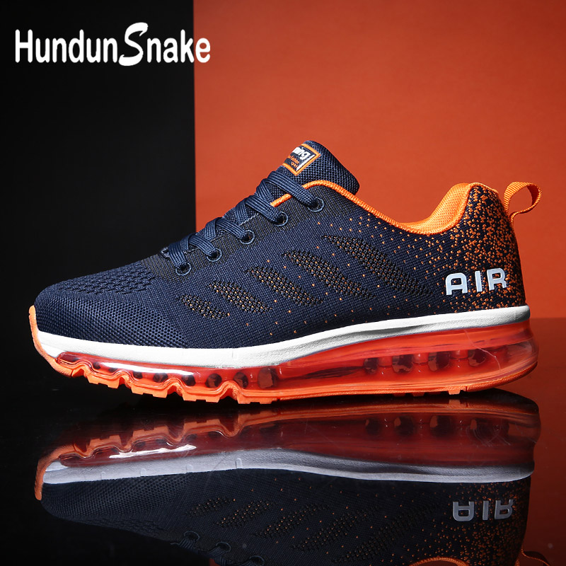 Hundunsnake Summer Men Running Shoes Sports Air Cushion Sneakers Man Mesh Male Shoes Adult Blue Tennis Deportivas Athletic G-29