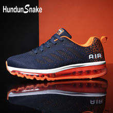 Hundunsnake Summer Men Running Shoes Sports Air Cushion Sneakers Man Mesh Male Shoes Adult Blue Tennis Deportivas Athletic G-29(China)