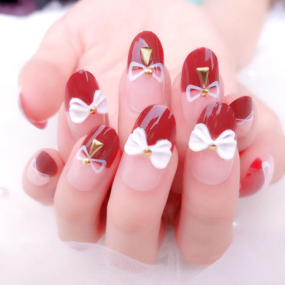 24pcs set 3d bling nail art jewelry