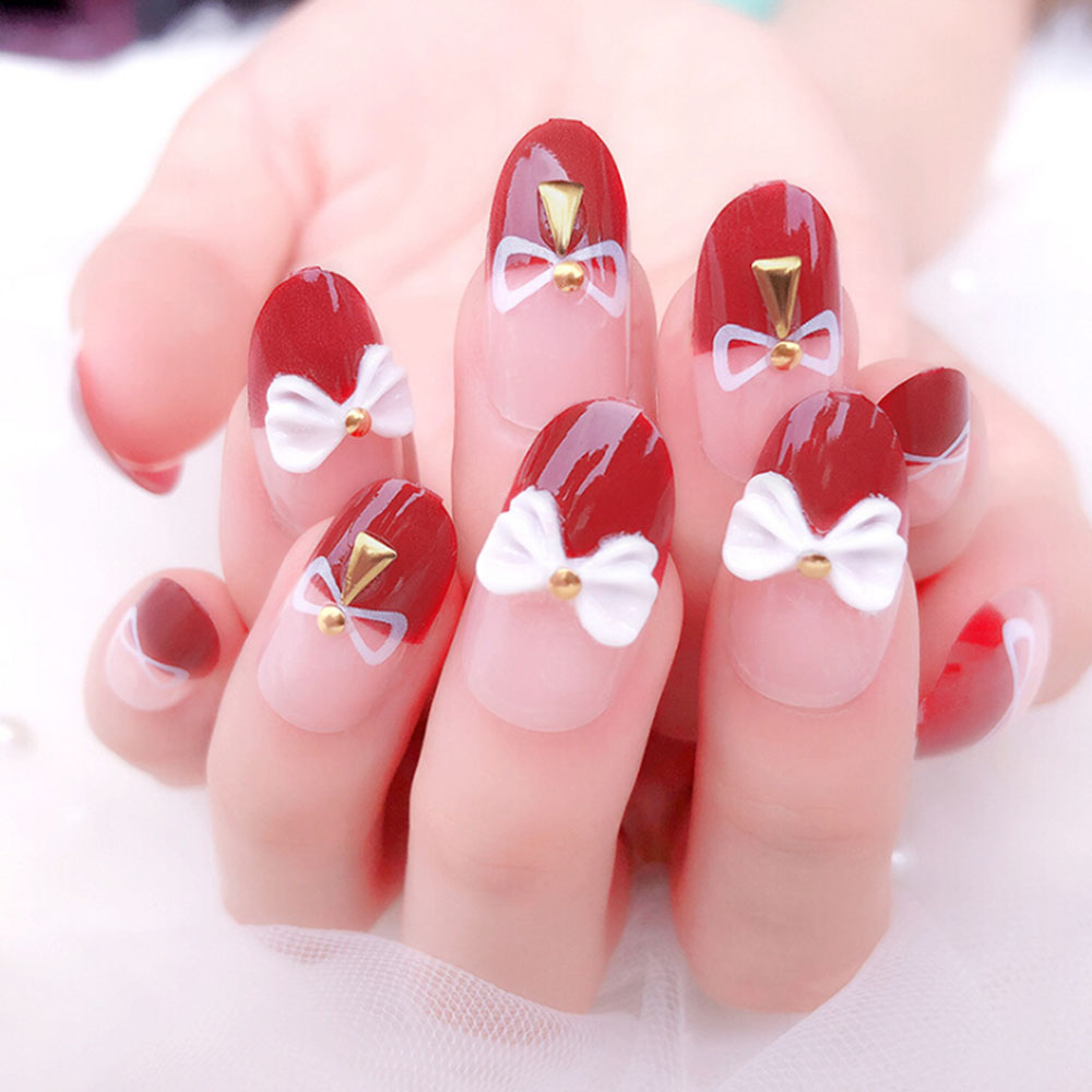 24pcs/set 3D Bling Nail Art Jewelry Wedding Bridal Glitter