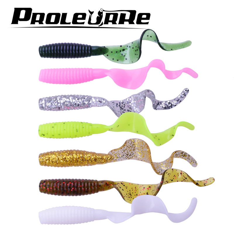 5 Pcs/lot 6cm 2g silicone bait Artificial Curly Tail Maggots Grub Worm Fishing Lures Soft bait lure Sea River Lake Fishing fishing lure wood pencil bait 120g 24cm floating sea fishing bait laser painted boat fishing lure 1 pcs lot