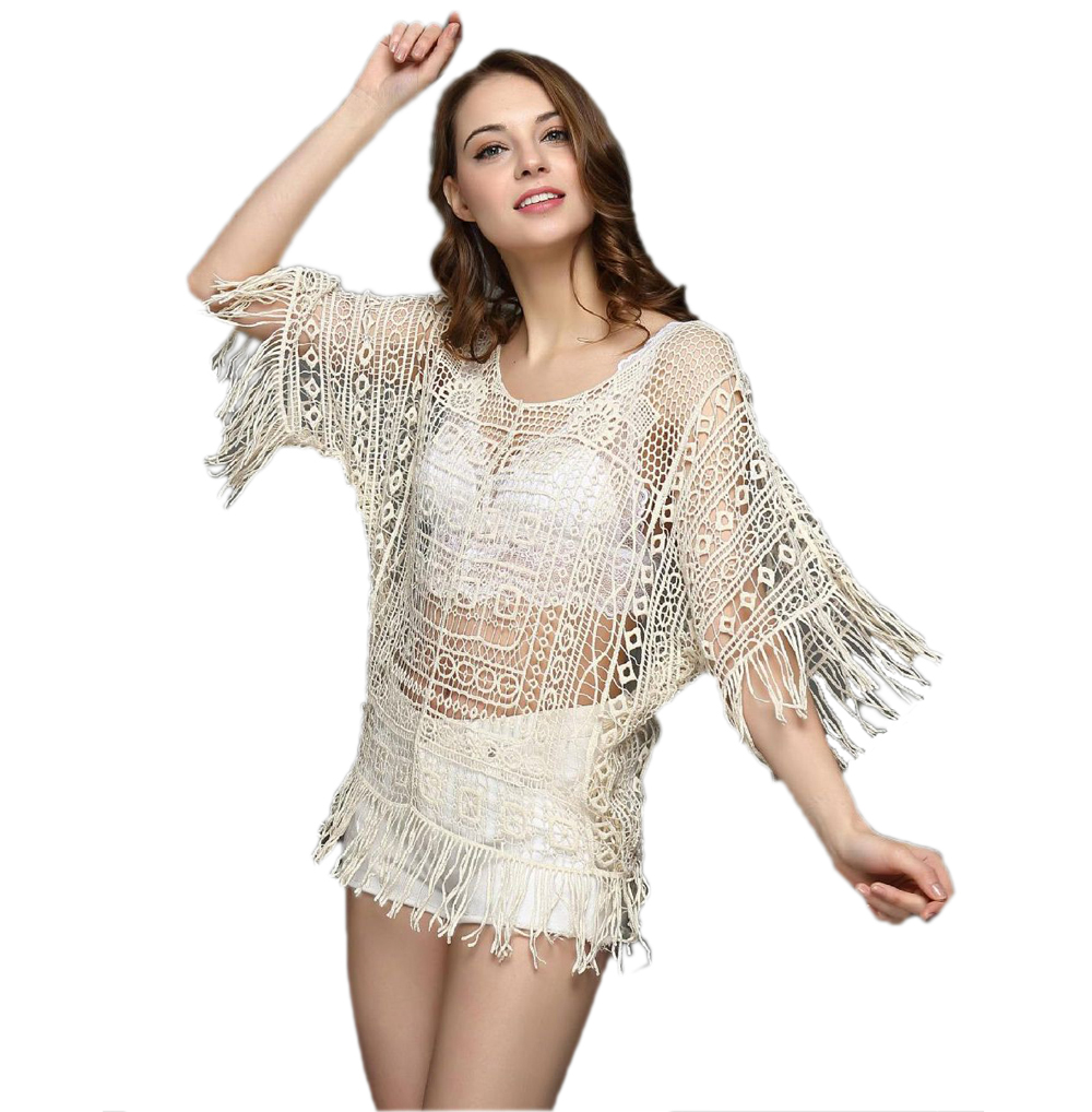 Free Shipping Tassel Cover-Up Beach Swimsuits Beachwear Dress 4F4637