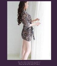 New high-end Women's fashion printed Sleep & Lounge Female Enchanting slim chiffon sexy lingerie Lady nightwear