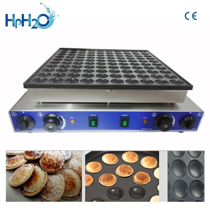 CE approuvé 110 V/220 V commercial 100 pièces Mini Machine à crêpes Poffertjes Grill gaufrier néerlandais l machine à crêpes boulanger