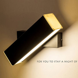 6/9/12 W nowoczesna lampa sufitowa LED lustro ściana światło 350 stopni regulowany aluminium kinkiet kryty Art Decor oprawy oświetleniowe do domu