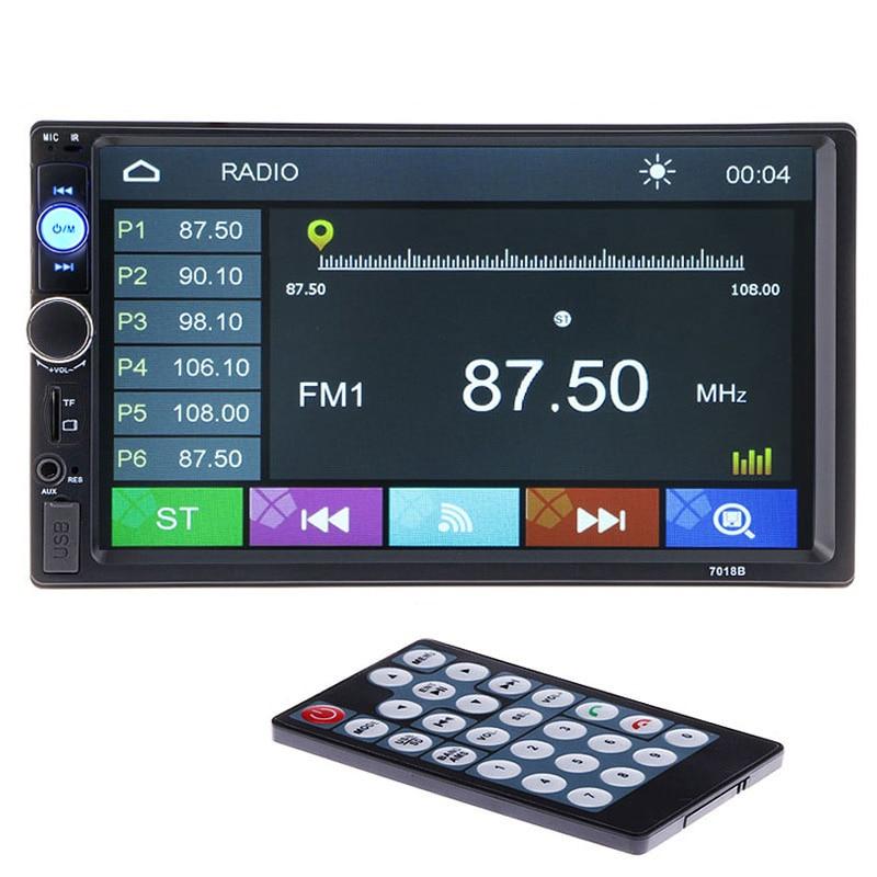 Autoradio hd Lecteur Arrière Vue Caméra Bluetooth Stéréo FM MP3 MP4 MP5 Audio Vidéo USB Électronique Automobile autoradio chargeur 2 DIN