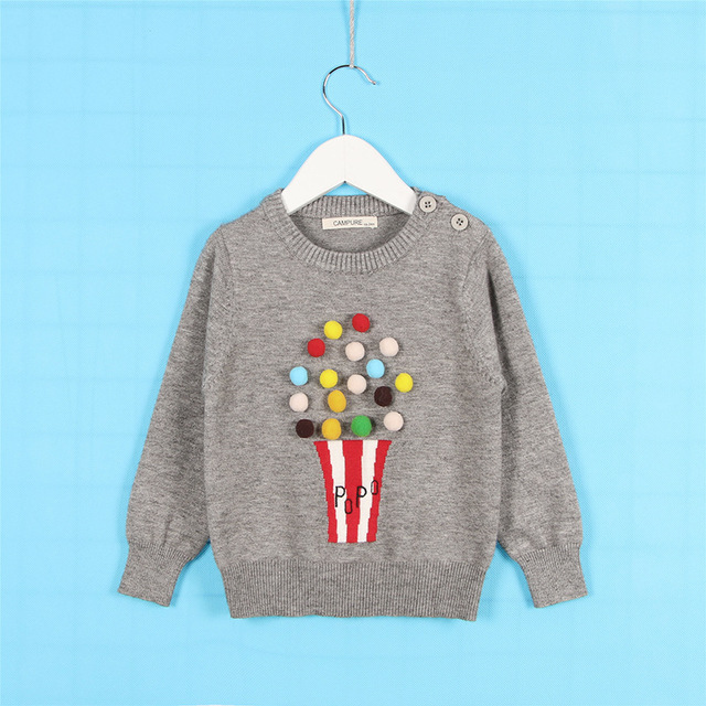 c0e27bb95 Spring Autumn Winter Cartoon Popcorn Sweater Infant Newborn Girls ...