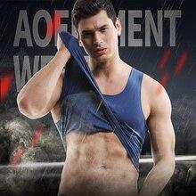 Undershirts Gay Slim Bodybuilding Fitness Gym Clothing Tank Top Vest Singlets Sleeveless Male Underwear Body Shaper