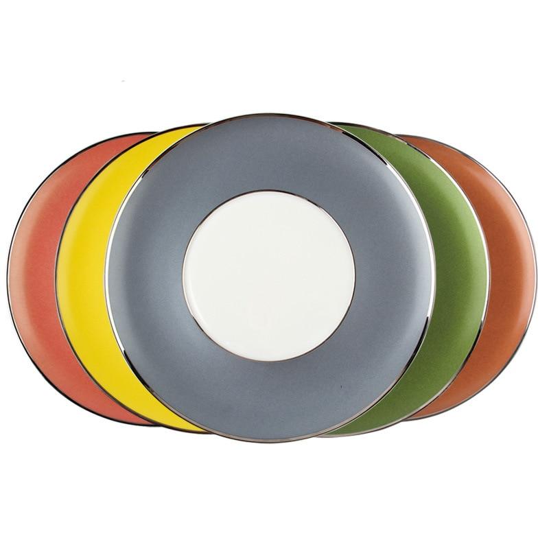 Plaque de couleur plaque de Restaurant européenne plaque de céramique de couleur