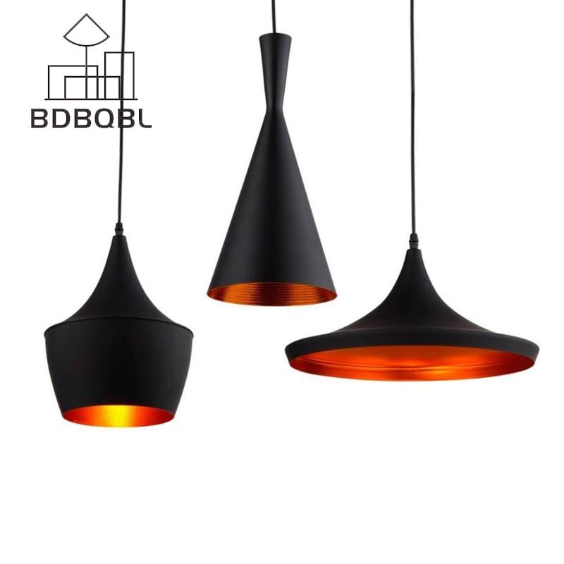 BDBQBL 3 Pieces/Set Vintage Pendant Lights LOFT Lamp Avize Nordic Pendant Lamp Suspension Luminaire Home Industrial Lighting