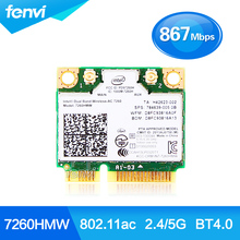 Новый Dual Band Для HP Intel Wireless-AC 7260 7260HMW 802.11ac BT4.0 половина Mini PCI-e Беспроводной связи bluetooth, wi-fi карты СПС 784639-005
