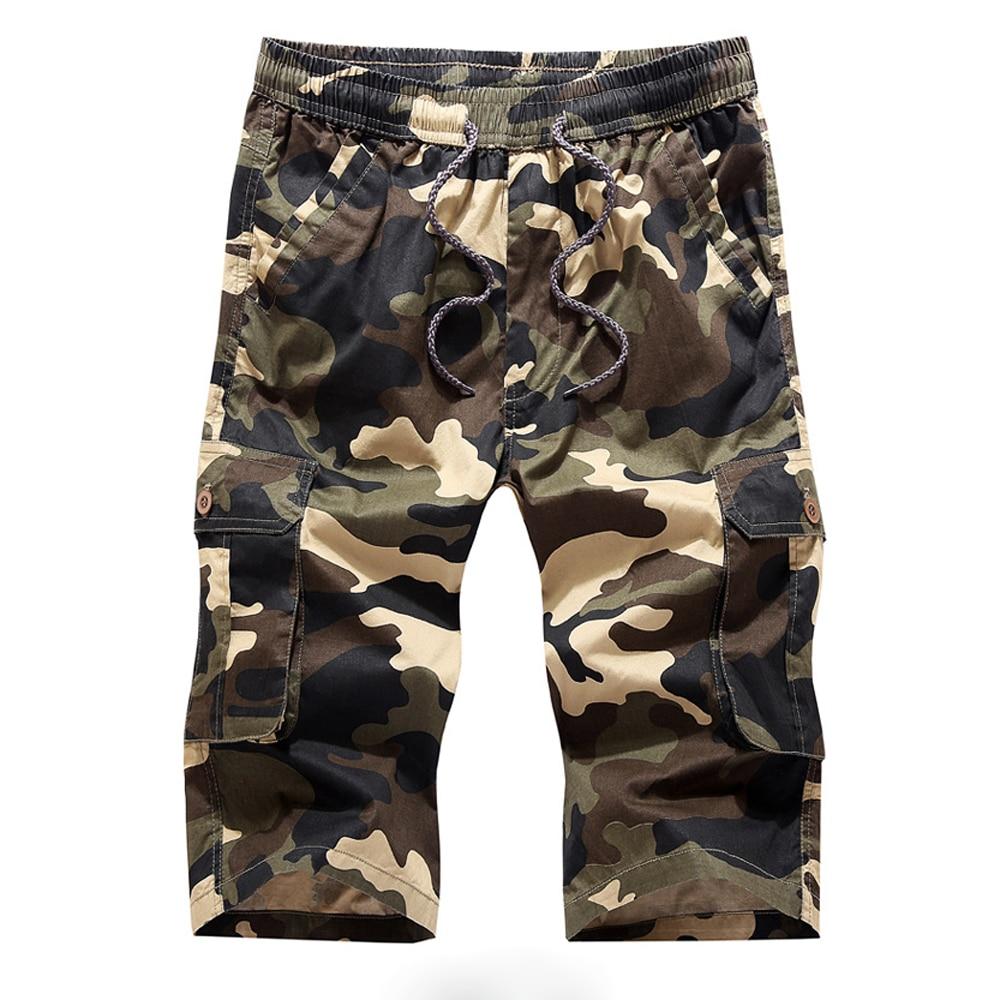 New 2017 Fashion Camouflage Shorts Men Bermuda Masculina Summer Casual Multi-Pocket Mens Cargo Short Pants Masculino Plus Size