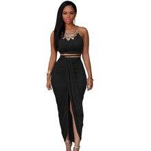 Bodycon Two Piece Maxi Dress Club Wear