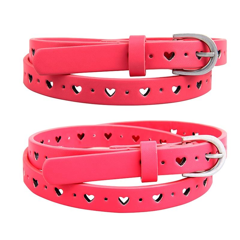 New Fashion kids belt girls belt pu belts for kids childrens girls pink cracker khaki colors free shipping