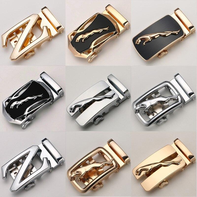KWD 2019 Luxury Brand Designer Belts Metal Automatic Buckle For 3.5cm Width Leather Waist Belt Buckle Wholesale No Leather Kemer