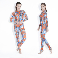 2018 New Wetsuit Women Zipper Swimsuit Full Body Jumpsuits Diving suit Rash Guard Wetsuits for Swimming Surfing Sports Clothing