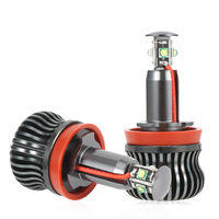 2x H8 Error Free 40W 2400lm for Chips LED Angel Eye Marker Lights Bulbs For BMW E60 E61 E70 E71 E90 E92 E93 X5 X6 Z4 M3