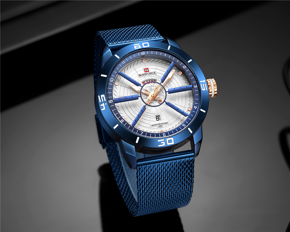 NAVIFORCE Mens Watches Top Brand Luxury Quartz Watch Men Full Steel Men Watch Sport Fashion Business Watches Relogio Masculino 11