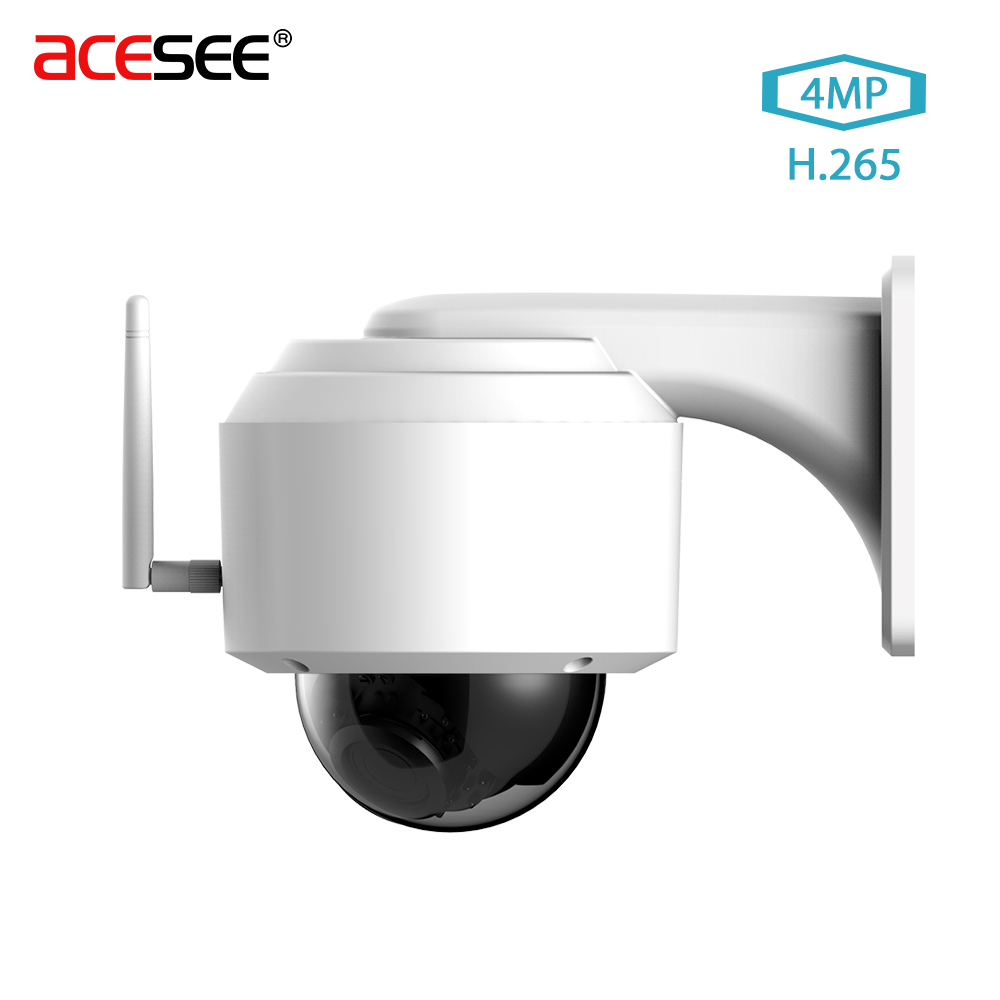 Acesee 4MP IP Zoom Monitor Camera Waterproof Street Outdoor Cameras Home Security Wifi C ...