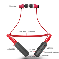 HWS610 Bass Bluetooth Headphone Sport Wireless Earphone With Mic Stereo Magnetic Bluetooth Headset IPX4 Waterproof For