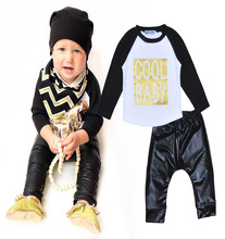 2016 spring baby boys clothing sets cool baby letter t shirt+pant boy clothing set spring 2016 clothing set for boy baby clothes