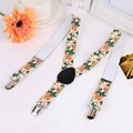 New Design 2.5*65cm Kids Suspenders Children Fancy Flowered Y-Back Braces Girls Clip-On Elastic Belt Accessory