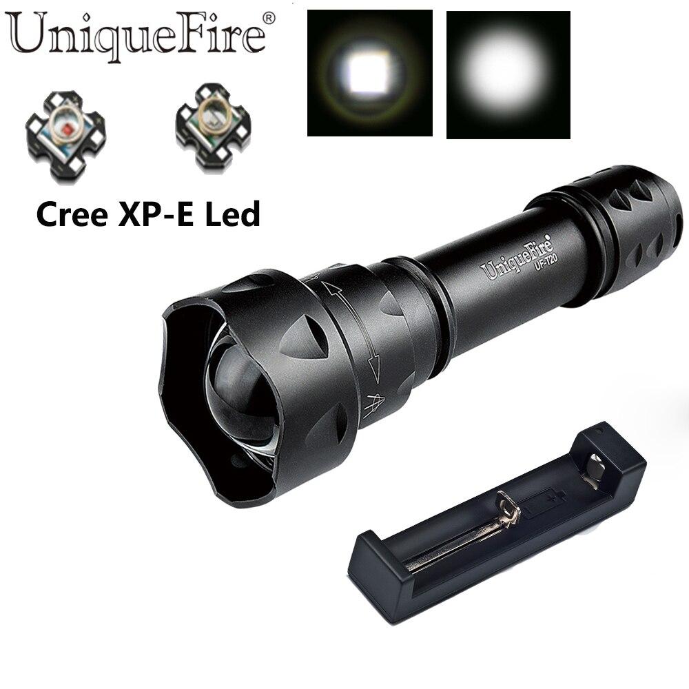 UniqueFire Vojna taktička svjetiljka UF-T20 XPE Zoom prekidač kape - Prijenosna rasvjeta