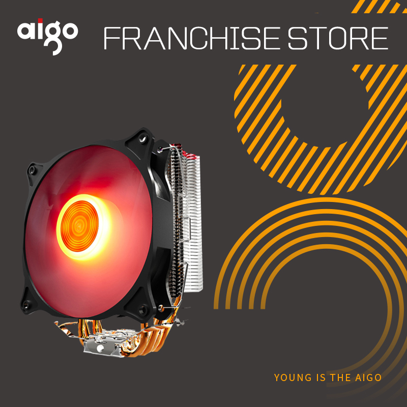 Aigo E4 CPU Refroidisseur TDP 280 W 4 heatp 4 p RGB LED 120mm Ventilateur En Aluminium Radiateur Radiateur pour LGA 775/1150/1151/1155/1366/AM2/AM3/AM4